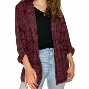 Lucky Brand Classic Red Plaid Flannel Shirt M